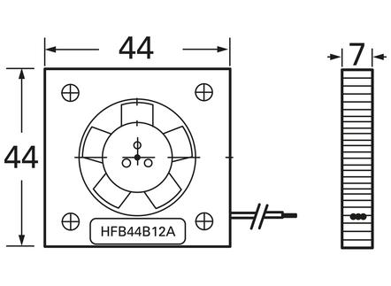 SEPA Naomi GPU Fan [HFB44B-05A]